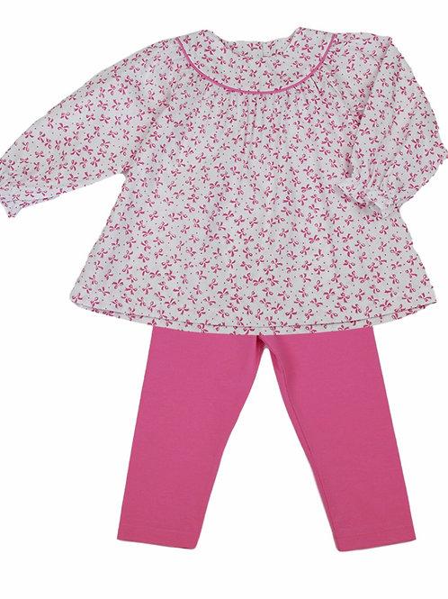 Lullaby Set Pink Bow Legging Set