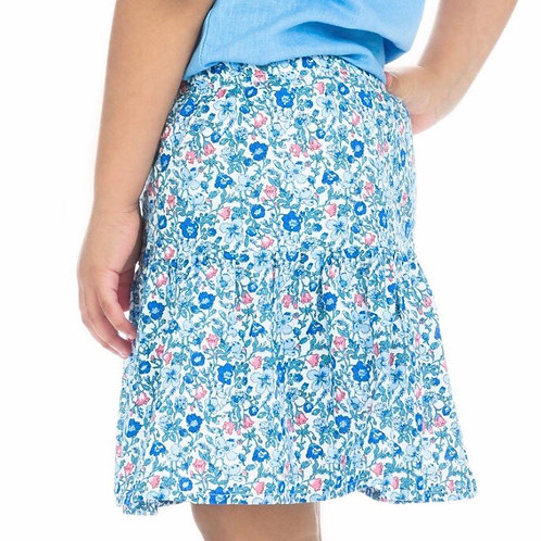 Bisby Kids Sally Skort in Blue Petite Garden Floral