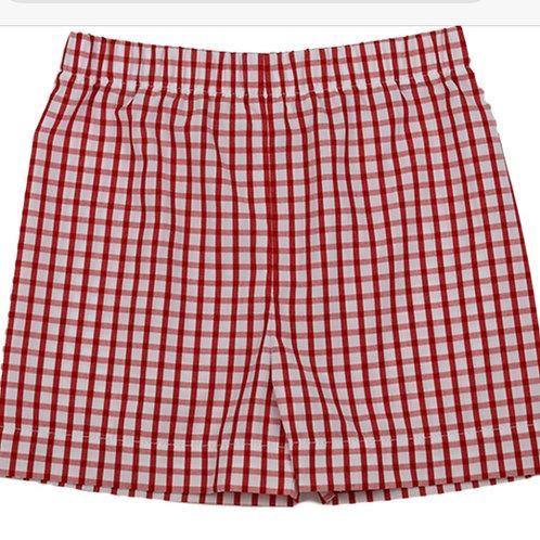 Lullaby Set Red Windowpane Shorts 4t, 6