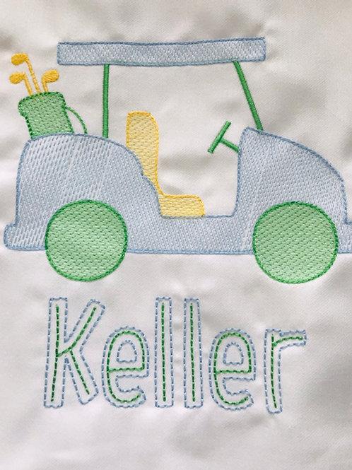 Golf Cart Tee with Name-Boy