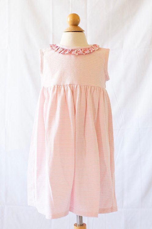 Peggy Green Pink Stripe Cici Dress with Libba Floral
