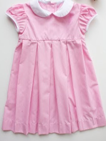 Little English Charlotte Pink Gingham Dress, size 6, 6X