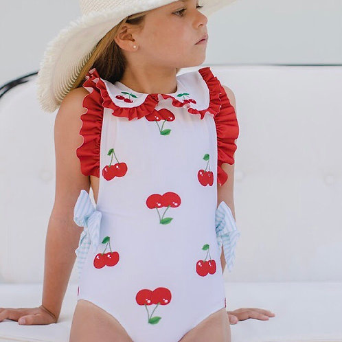 Sal & Pimenta Cherry Swimsuit 2t