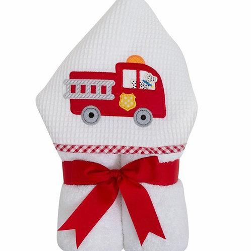 3 Marthas Firetruck Hooded Towel