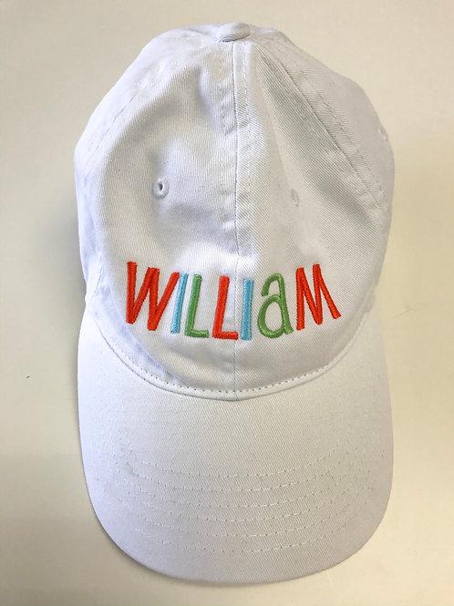 baseball cap with name