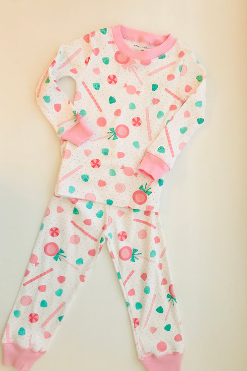 Ollie and Bess Gumdrop Knit Pajamas-size 6