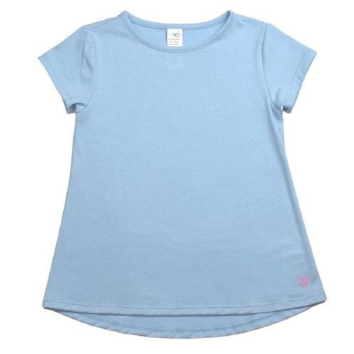 Set Athleisure Bridget Basic Tee light blue knit