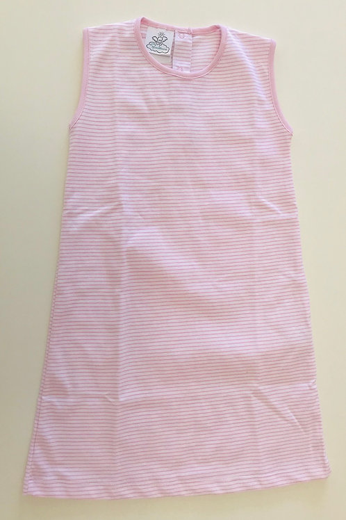 Bambinos Pink Stripe Pima Sleeveless Dress 4t, 7, 8