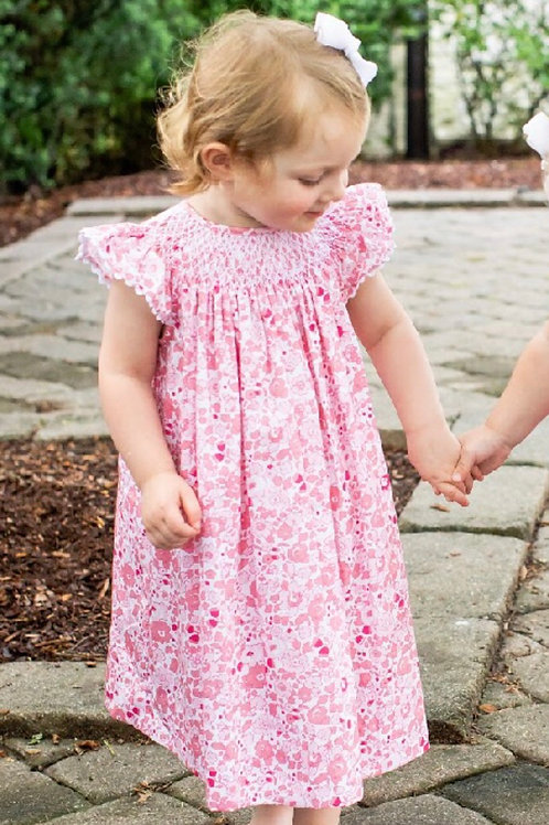 Peggy Green Libba Floral Smocked Dress 2t, 3t