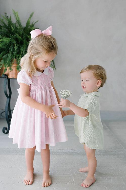 Little English Smocked Daisy Dress
