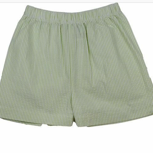 Lullaby Set Green Seersucker Stripe Shorts
