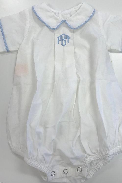 Bubble Winter White with Blue Trim