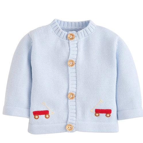 Little English Wagon Crochet Cardigan Sweater