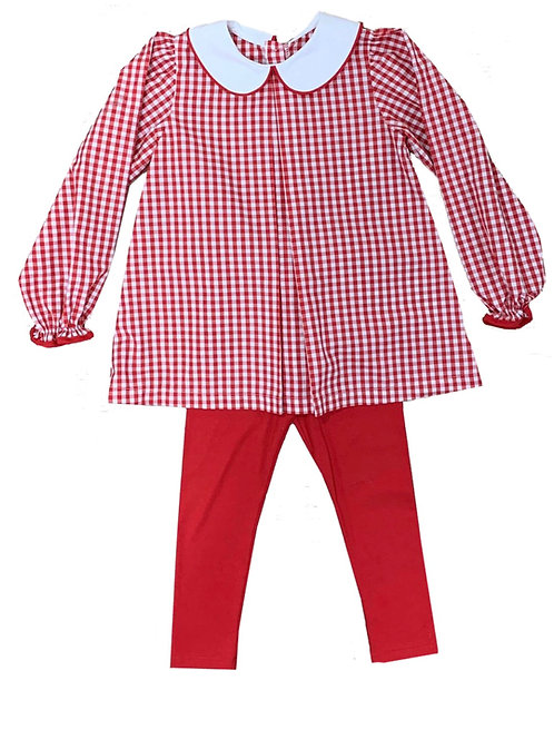 Lullaby Set Red Gingham Legging Set size 6