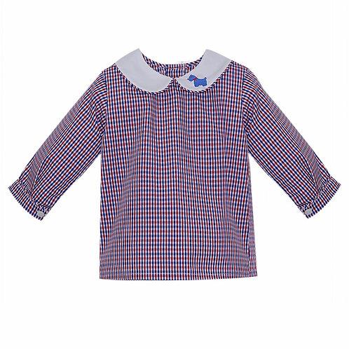Lullaby Scottie Plaid Shirt