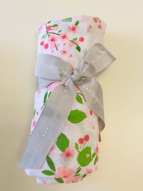 Angel Dear Cherry Blossom Muslin Swaddle Blanket