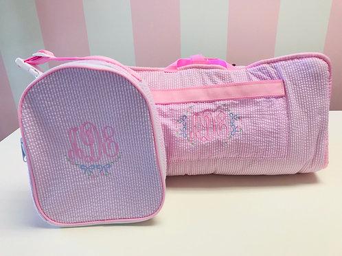 Pink Seersucker Napmat by Mint