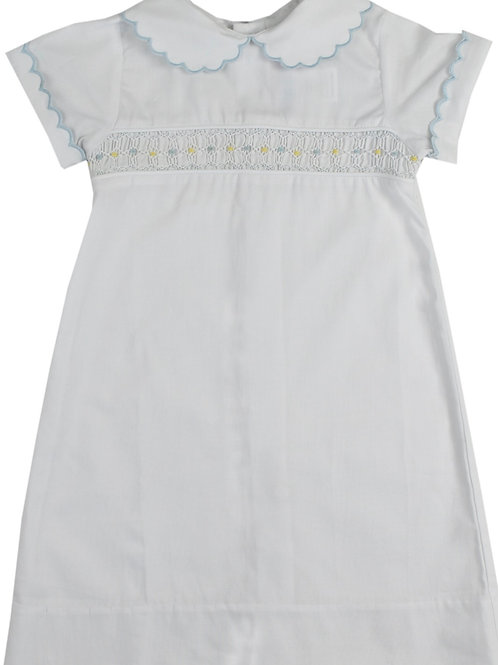 Lullaby Set Heaven Sent Blue Smocked Day Gown