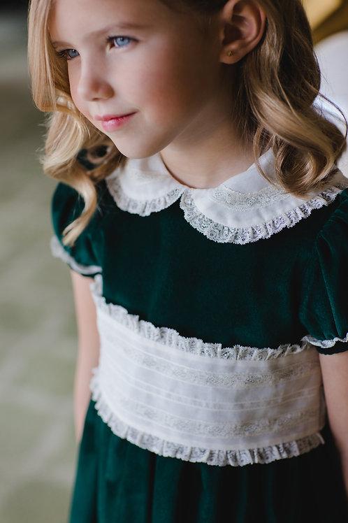 Sal & Pimenta Green Velvet Dress
