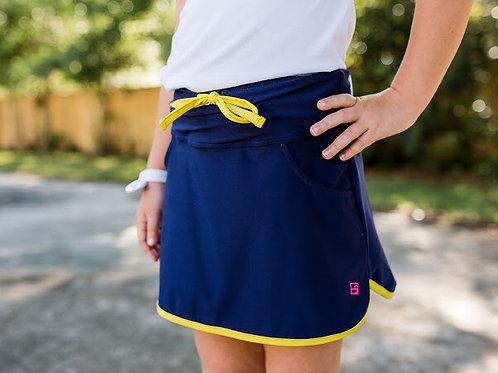 SET Athleisure Tennis Skort in Navy and Yellow