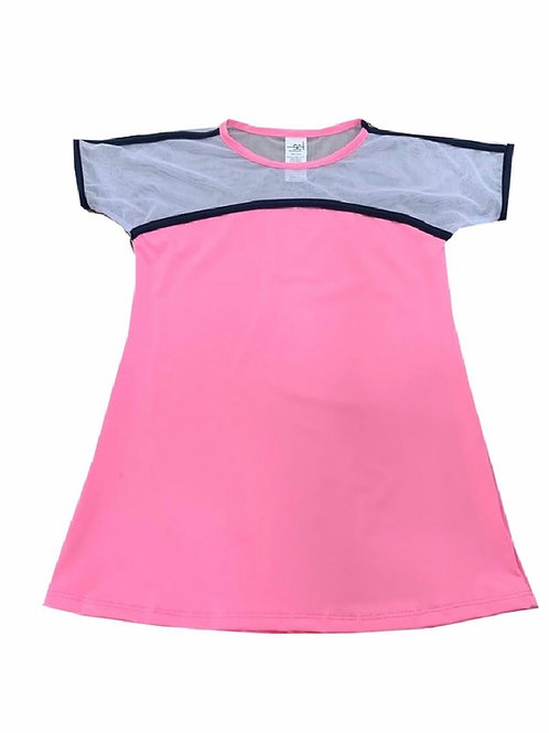 Set Athleisure Marley Athletic Top in Pink and Navy