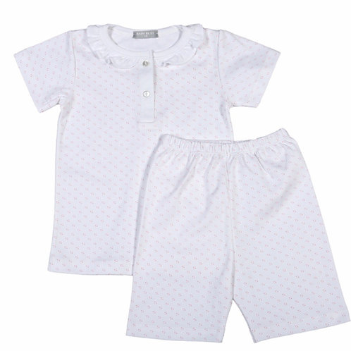 Baby Bliss Pink Dot Pima Loungewear