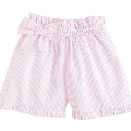 Little English Pink Seersucker Paperbag Bow Shorts 4t, 4, 7