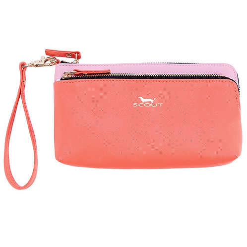 Scout Wristlet-Coral and Pink