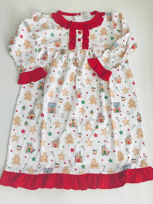 Baby Bliss Pima Gingerbread Gown