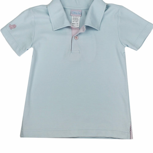 Lullaby Set Light Blue and Pink Polo