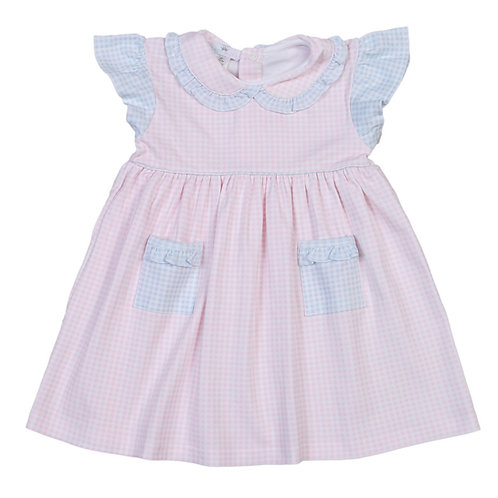 Baby Bliss Pima Pink and Blue Gingham Dress