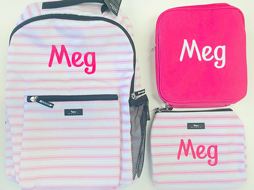 Scout Pink Stripe Backpack