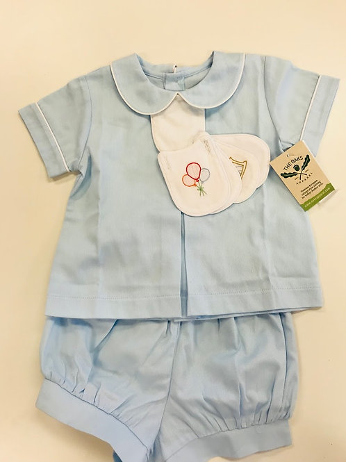 The Oaks Tab Banded Short Set 12 mo