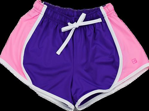 Set Athleisure Pink and Purple Elise Shorts