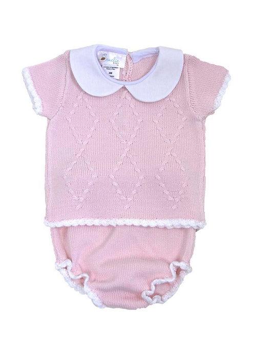 Cuclie Pink Diamond Diaper Set