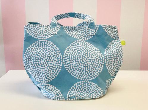 See designs large circle tote blue