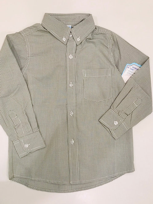 Remember Nguyen Green Gingham Button-Down