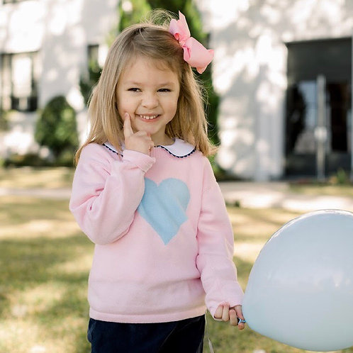 Lullaby Set Pink and Blue Heart Sweater