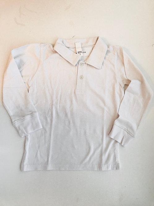 Monag White Polo Long-Sleeve