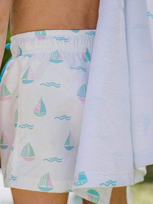 Sal & Pimenta Set Sail Swim Trunks 12 mo