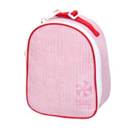 Red Seersucker Gumdrop Lunchbox