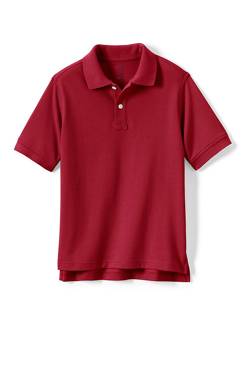 Polo-Red Lands End S/Sleeve Pique