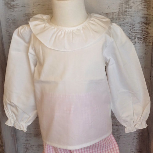 Ollie and Bess Ruffle Blouse L/S