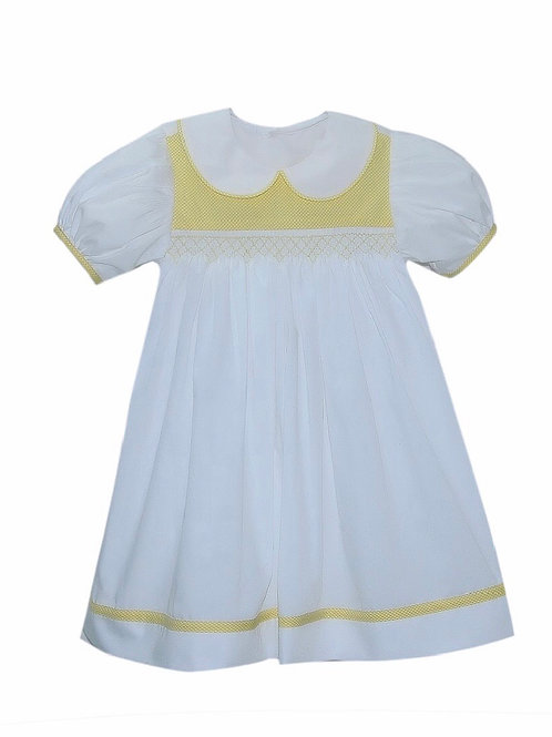 Lullaby Set Yellow Smocked Sarah Dress 12, 18 mo, 3t