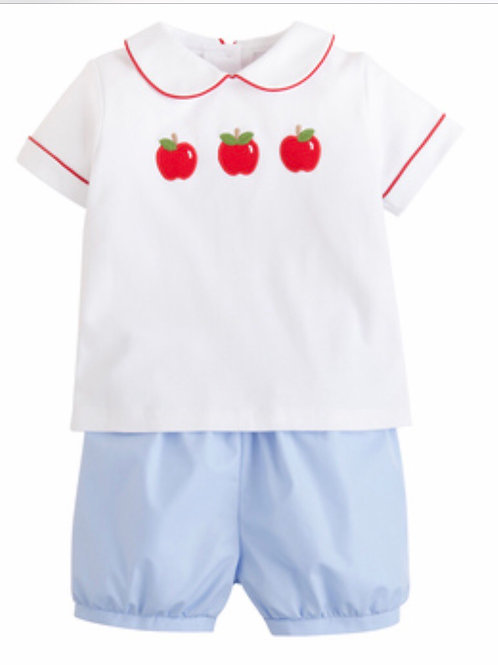 Little English Apple Peter Pan Shirt Set 12 mo