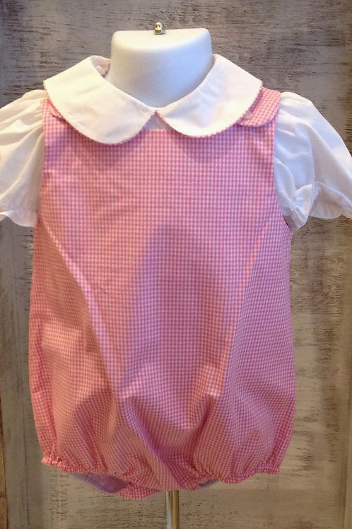 Rosalina Pink Gingham Sleeveless Bubble 3,9 mo