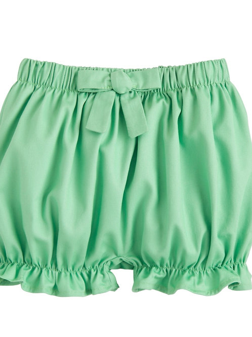 Little English Green Twill Bow Bloomer