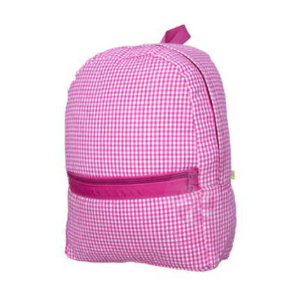 Hot Pink Gingham Medium Backpack by Mint