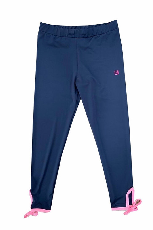 Set Athleisure Navy and Pink Avery Athletic Legging