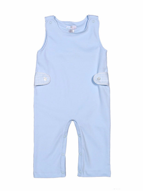 Baby Bliss Pima Light Blue Solid Longall